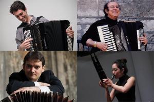 Clockwise from top left: Michael Bridge, Joseph Macerollo, gamin, Héctor del Curto