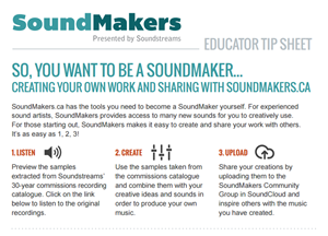 An example of a SoundMakers educational resource