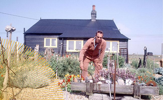 Derek Jarman at his garden