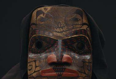 Mask by Mike Dangeli of the Nisga'a, Tlingit, Tsetsaut, and Tsimshian Nations