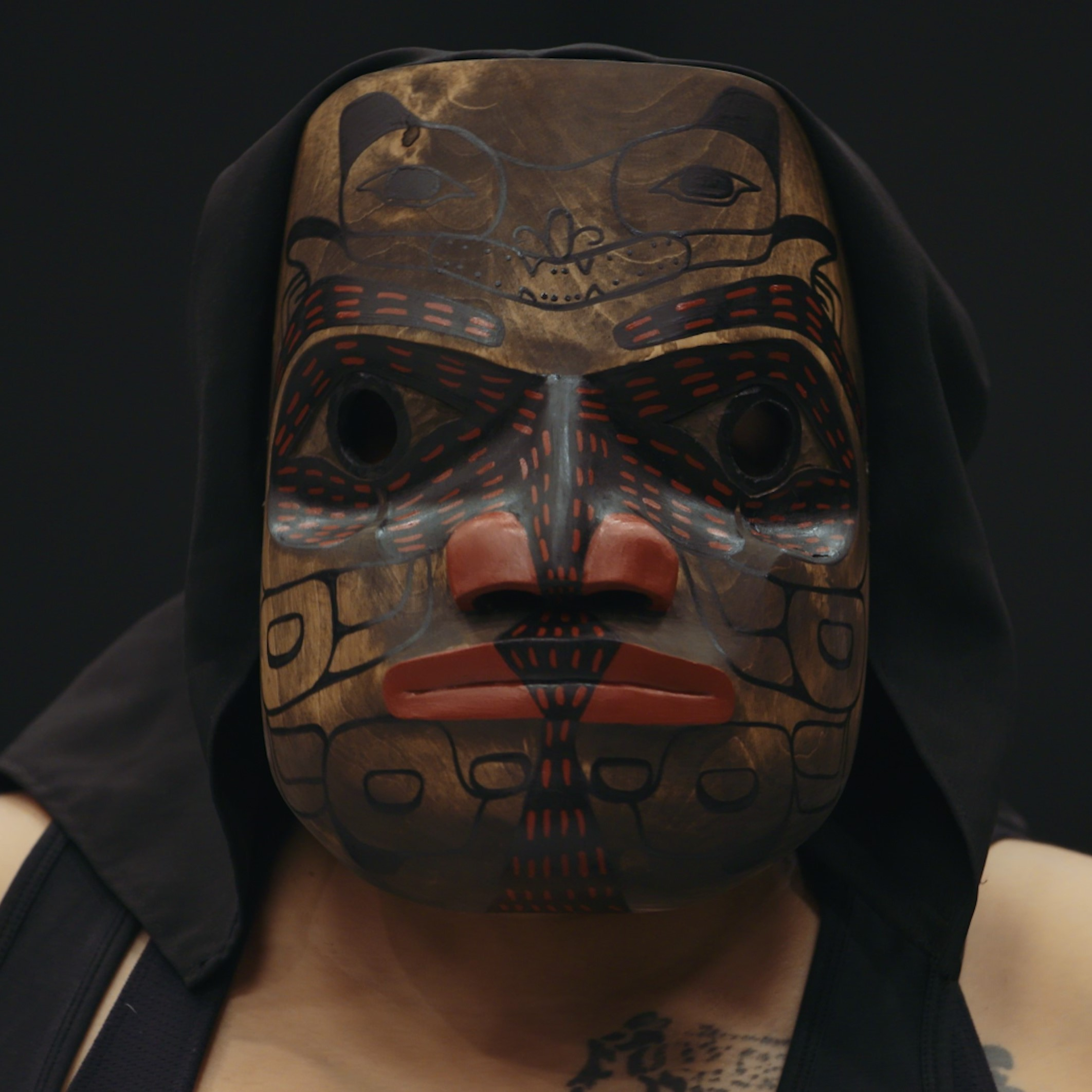 Mask by Mike Dangeli of the Nisga'a, Tlingit, Tsetsaut, and Tsimshian Nations