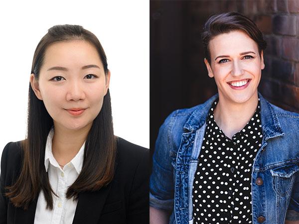 Headshots of Coco Chen and Rebecca Cuddy